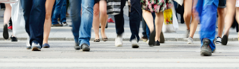 Pedestrians-Walking-on-City-Street